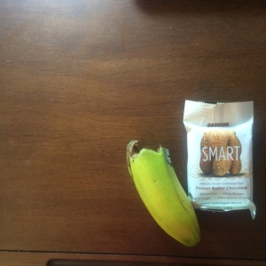 Peanut Butter Smart Bar and a Banana. Perfect Combo...